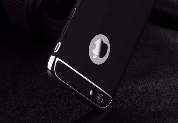 Luxe zwarte telefoonhoesje voor iPhone 6 6s Plus Ultradunne TPU beschermhoes-008