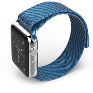Milanese Loop rvs blauw bandje voor de Apple Watch 38mm-006