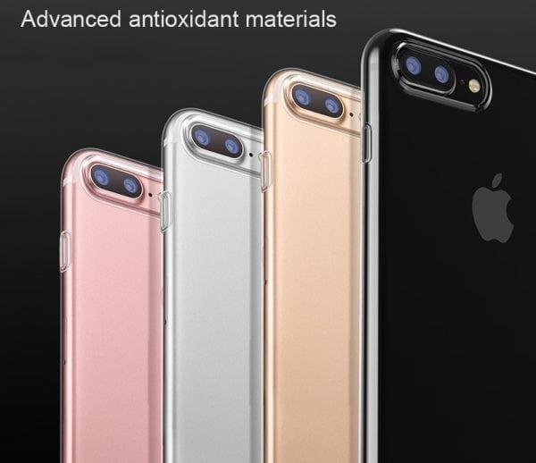 Telefoonhoesje voor iPhone 7 Plus HD Clear Crystal Ultradunne krasbestendig TPU beschermhoes-009