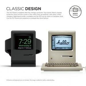 Vintage Night Stand voor Apple Watch - zwart houder voor Apple Watch Vintage Apple Monitor Apple Watch Series 1, 2, en 3