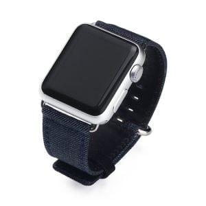 Denim bandje donkerblauw met klassieke gesp voor Apple Watch 42mm-015