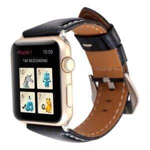 Lederen bandje blauw met klassieke gesp voor Apple Watch 42mm-001