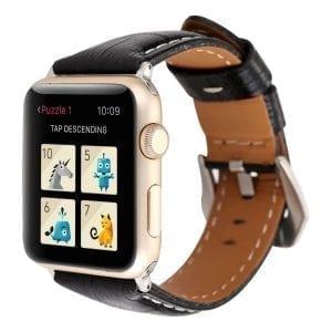 Lederen bandje zwart met klassieke gesp voor Apple Watch 42mm vervangende horlogeband voor Iwatch -002