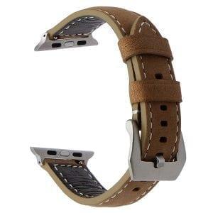 Leren bandje bruin met klassieke gesp voor Apple Watch 42mm-601