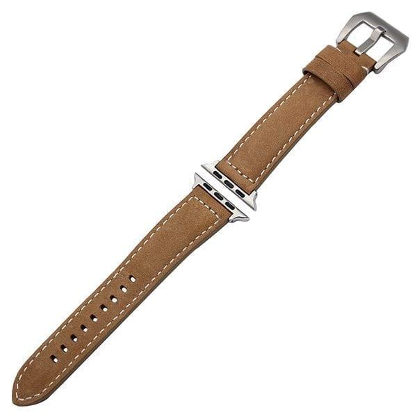 Leren bandje bruin met klassieke gesp voor Apple Watch 42mm-603