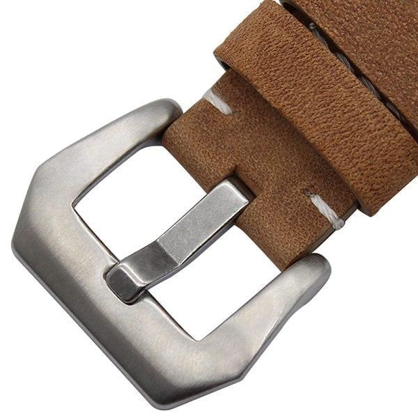 Leren bandje bruin met klassieke gesp voor Apple Watch 42mm-605