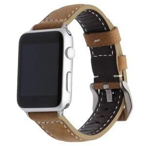 Leren bandje bruin met klassieke gesp voor Apple Watch 42mm-607