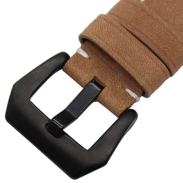 Leren bandje bruin met klassieke zwarte gesp voor Apple Watch 42mm-002