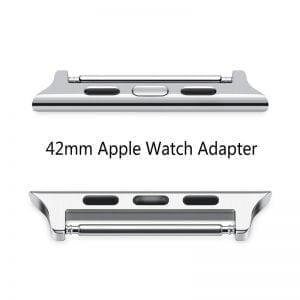 Leren bandje bruin met klassieke zwarte gesp voor Apple Watch 42mm-007