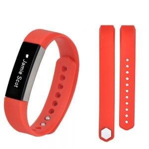 Luxe Siliconen Bandje large voor FitBit Alta – rood