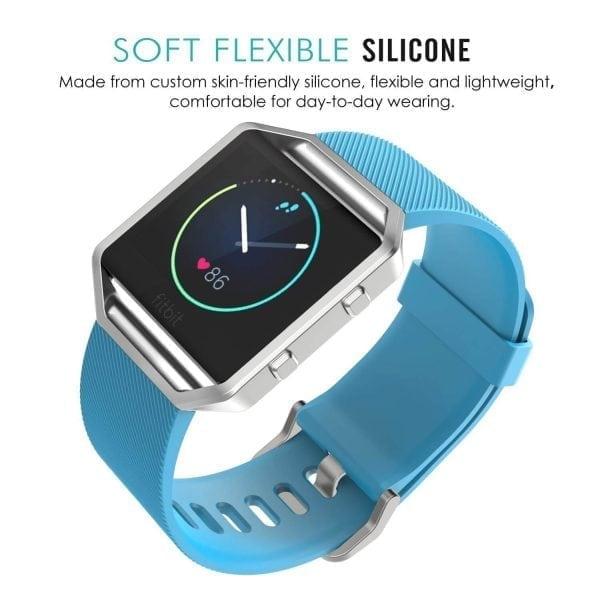 Luxe Siliconen Bandje large voor FitBit Blaze – lichtblauw_003