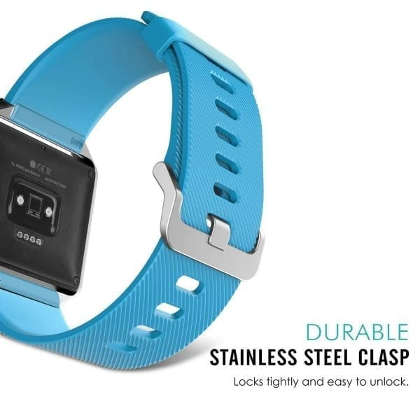 Luxe Siliconen Bandje large voor FitBit Blaze – lichtblauw_005