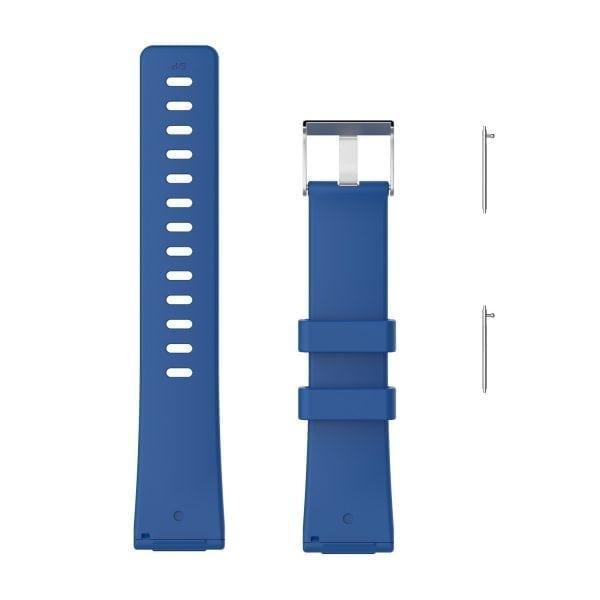 Luxe Siliconen Bandje large voor FitBit Versa – blauw-001