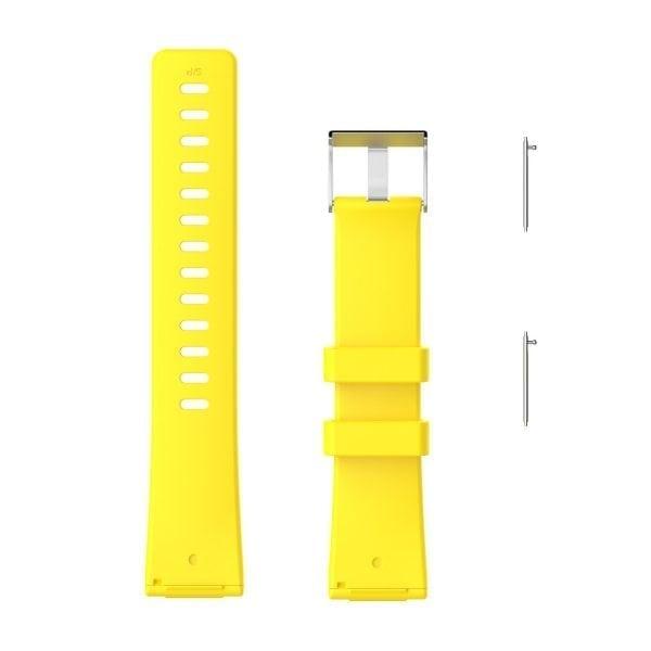 Luxe Siliconen Bandje large voor FitBit Versa – geel-001