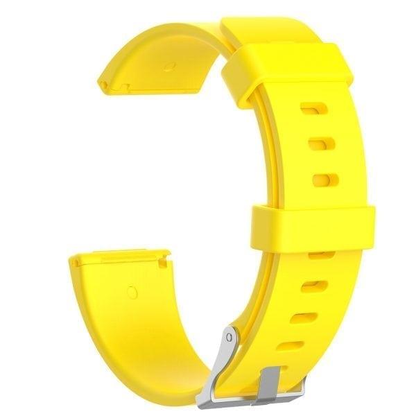 Luxe Siliconen Bandje large voor FitBit Versa – geel-003