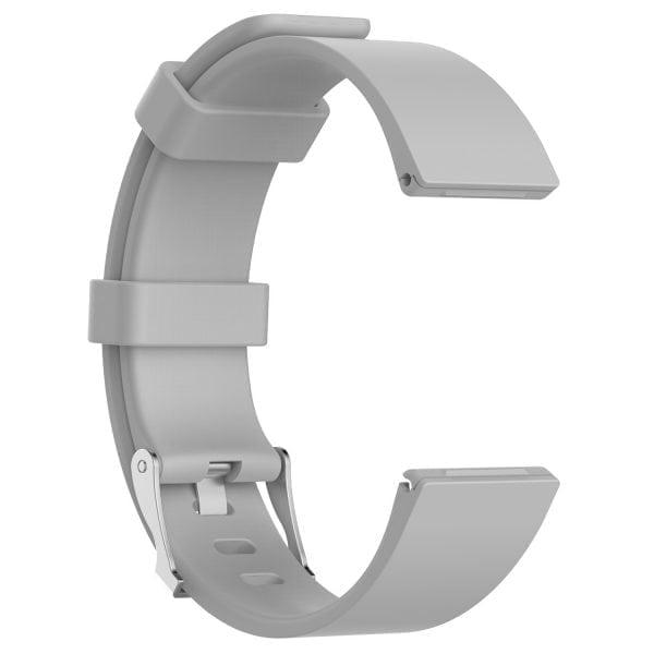 Luxe Siliconen Bandje large voor FitBit Versa – grijs-004