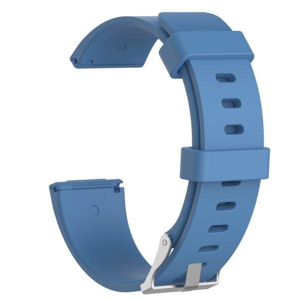 Luxe Siliconen Bandje large voor FitBit Versa – lichtblauw-001