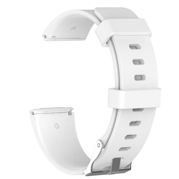 Luxe Siliconen Bandje large voor FitBit Versa – wit-004