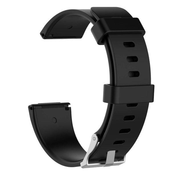 Luxe Siliconen Bandje large voor FitBit Versa – zwart-002