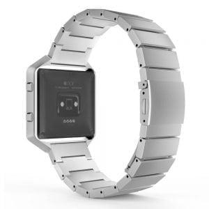RVS zilver metalen bandje - armband voor de Fitbit Blaze met vlindersluiting_013