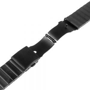 RVS zwart metalen bandje - armband voor de Fitbit Blaze met vlindersluiting_004