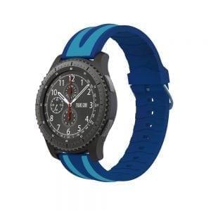 Samsung Gear S3 Duo bandje Voor de Samsung Gear S3 Classic-Blauw lichtblauw-005