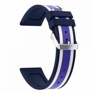 Samsung Gear S3 Duo bandje Voor de Samsung Gear S3 Classic Frontier - Siliconen blauw - wit - paars-001