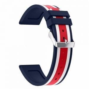 Samsung Gear S3 Duo bandje Voor de Samsung Gear S3 Classic - blauw - wit - rood-007