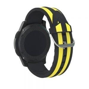 Samsung Gear S3 Duo bandje Voor de Samsung Gear S3 Classic-zwart-geel-003