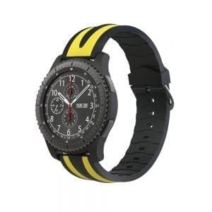Samsung Gear S3 Duo bandje Voor de Samsung Gear S3 Classic-zwart-geel-005