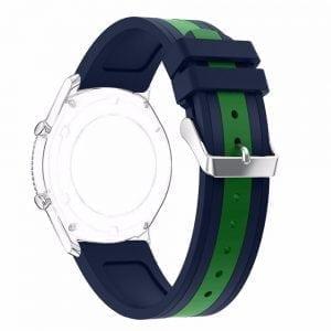 Samsung Gear S3 Duo bandje Voor de Samsung Gear S3 - blauw - groen-001