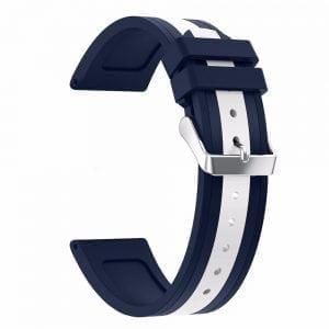 Samsung Gear S3 Duo bandje Voor de Samsung Gear S3 - blauw - wit-001
