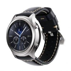 Samsung Gear S3 Leren Bandje zwart voor de Samsung Gear S3 Classic-001