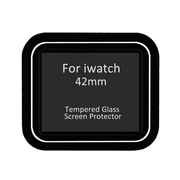 Screen Protector Tempered Glass Apple Watch Series 1 2 3 (42mm) - Black edge niet full cover-001
