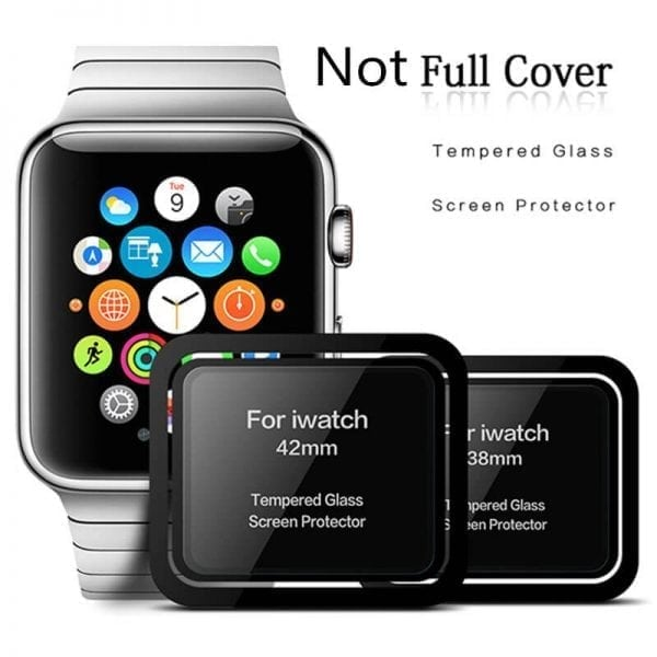 Screen Protector Tempered Glass Apple Watch Series 1 2 3 (42mm) - Black edge niet full cover-007