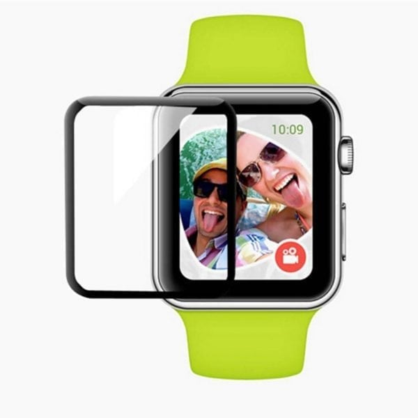 Screen Protector Tempered Glass Apple Watch Series 1 2 3 (42mm) - Black edge niet full cover-008
