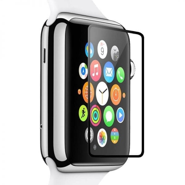 Screen Protector Tempered Glass Apple Watch Series 1 2 3 (42mm) - Black edge niet full cover-010