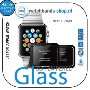 Screen-Protector-Tempered-Glass-Apple-Watch-Series-1--2--3-(42mm)---Black-edge--niet-full-cover-101
