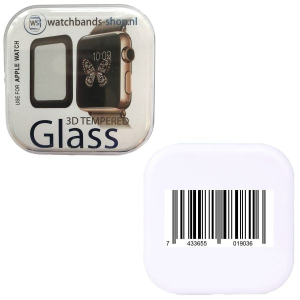 Screen Protector Tempered Glass Apple Watch Series 1 2 3 (42mm) - Black edge niet full cover-101