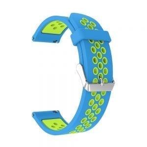 Sportbandje Voor de Samsung Gear S3 Classic Frontier - Siliconen Armband Polsband Strap Band Sportbandje - blauw - groen-002