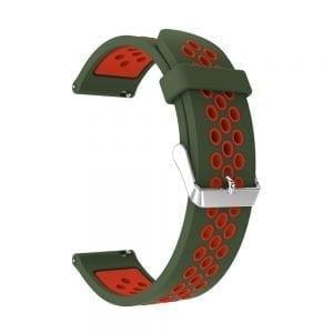 Sportbandje Voor de Samsung Gear S3 Classic Frontier - Siliconen Armband Polsband Strap Band Sportbandje - groen - rood-002