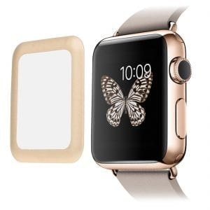 38mm full Cover 3D Tempered Glass Screen Protector For Apple watch iWatch 1 gold edge_002
