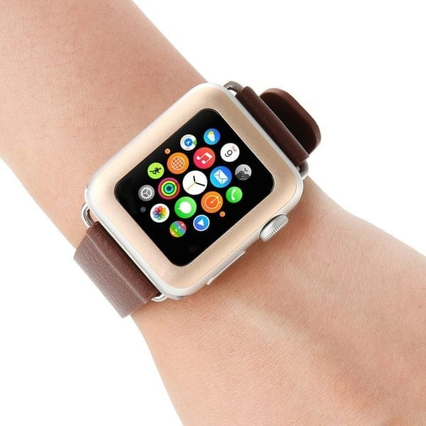 38mm full Cover 3D Tempered Glass Screen Protector For Apple watch iWatch 1 gold edge_004