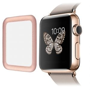 38mm full Cover 3D Tempered Glass Screen Protector For Apple watch iWatch 3 rose gold edge_004