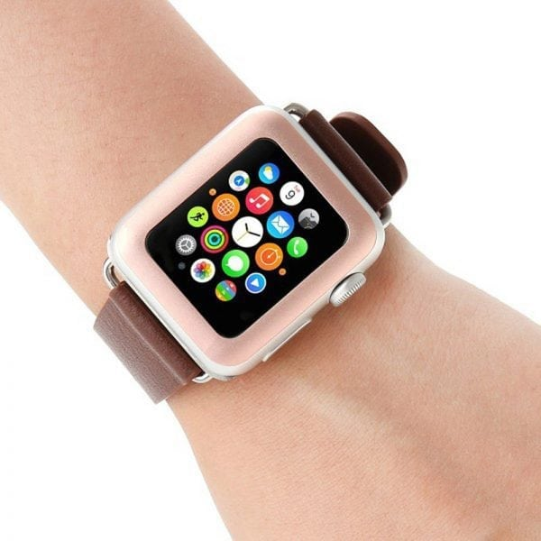 38mm full Cover 3D Tempered Glass Screen Protector For Apple watch iWatch 3 rose gold edge_005
