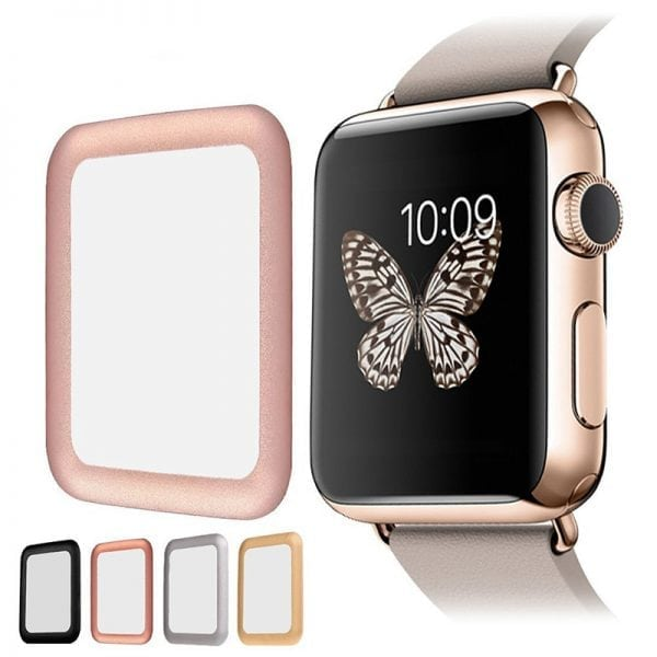 38mm full Cover 3D Tempered Glass Screen Protector For Apple watch iWatch 3 rose gold edge_008