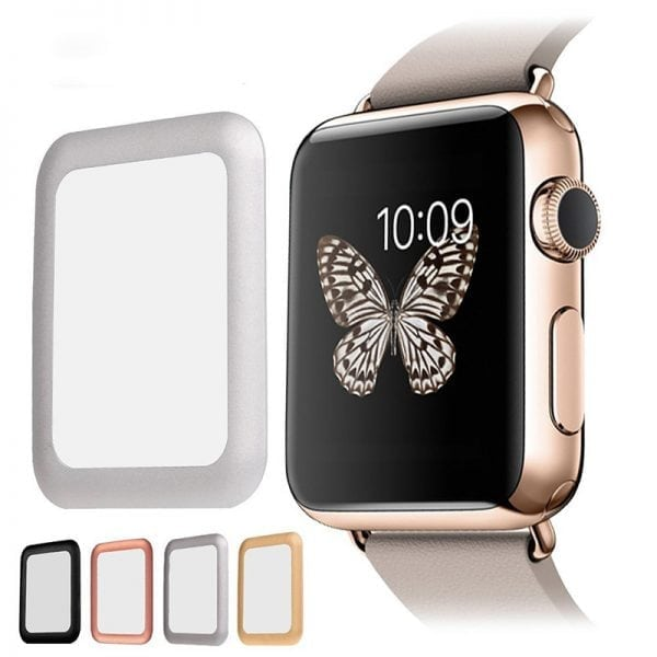 38mm full Cover 3D Tempered Glass Screen Protector For Apple watch iWatch 3 silver edge_004