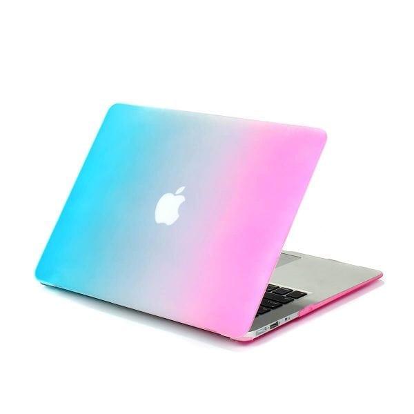 Cover Rainbow case Apple MacBook Air 11 inch - blauw - roze A1465 - A1370 (2012- 2018)_004