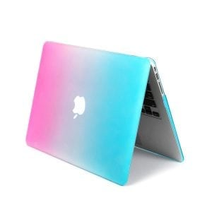 Cover Rainbow case Apple MacBook Air 11 inch - blauw - roze A1465 - A1370 (2012- 2018)_005