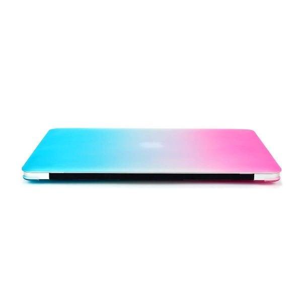 Cover Rainbow case Apple MacBook Air 11 inch - blauw - roze A1465 - A1370 (2012- 2018)_009
